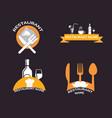 restaurant retro logo collection vector image vector image