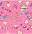 seamless pattern of valentine s day elements vector image vector image