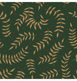 seamless pattern with leaf and small flowers vector image