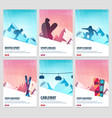 set banners of winter sport ski and snowboard vector image vector image