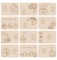 set business cards vector image vector image
