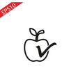 sticker apple with leaf realistic vector image
