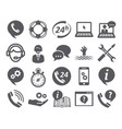 support service icons vector image