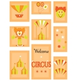 The circus - icon set vector image