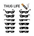 thug life glasses 8 bit pixel vector image