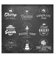 Typographical Bakery Coffee and Drinks Badges vector image vector image