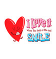 valentine cute doodle vector image vector image