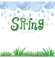 Watercolor Spring BackgroundGreen grassword vector image