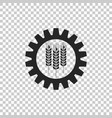 wheat and gear icon on transparent background