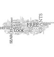 where to search for free grants text word cloud vector image vector image