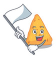 with flag nachos mascot cartoon style vector image vector image