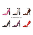 woman shoes pumps set promotion brochure banner vector image vector image