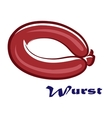 Wurst or sausage icon vector image