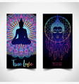 yoga card flyer poster mat design colorful vector image vector image