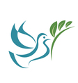 pigeon of peace isolated symbol vector image