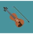 Violin icon of the musical vector image