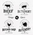 Butcher Shop Design Elements Labels and Badges vector image