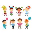 Cartoon kids back to school vector image