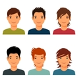 Set of cute young boys with various hair style vector image