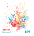 abstract background with colorful splashes vector image vector image