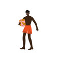 african american man with ball guy relaxing on vector image vector image