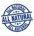 all natural blue round grunge stamp