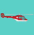 ambulance helicopter in flat style vector image
