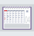 april page 2019 planner calendar with marked tax vector image