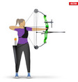 archer with compound bow archery sport