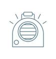 autonomous heater linear icon concept autonomous vector image vector image