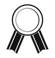 award ribbon icon simple vector image