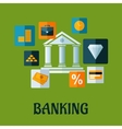 Banking flat infographic design vector image vector image