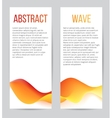 banners with blend waves vector image vector image