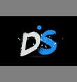 blue white alphabet letter combination ds d s
