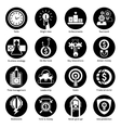 Business Concept Icons Black vector image vector image