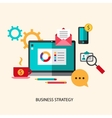 business strategy planning icon flat set vector image vector image