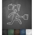 businessman runs icon Hand drawn vector image vector image