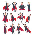 businessman superheroes male characters in action vector image vector image