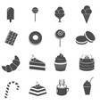 cake and sweet dessert icons set vector image vector image