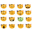 cat emoticon cute animal - many vector image