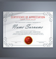 certificate design template with decorative border vector image vector image