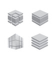 construction logo 3d set collection engineering