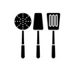 cooking tableware black icon sign on vector image vector image