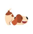 cute beagle dog animal cartoon character vector image vector image