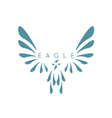 design template abstract bird eagle vector image vector image