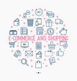 e-commerce shopping circle concept vector image