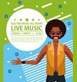 electro music festivas poster vector image