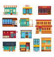 fastfood restaurant flat icons set vector image vector image
