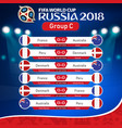 fifa world cup russia 2018 group c fixture vector image