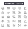 financial strategy line icons for web and mobile vector image vector image